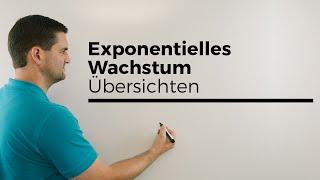 Exponentielles Wachstum, Übersichten, auch Zerfall, Mathehilfe online, Erklärvideo