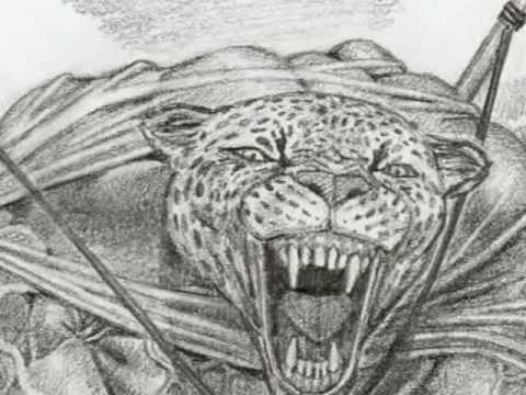 JAGUAR AZTEC WARRIOR.  Fantasy Art by Artemiogevara!.