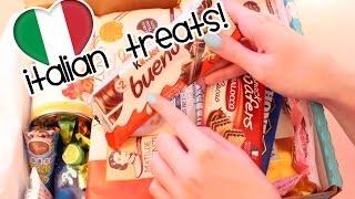 Try Treats Italian Candy Unboxing (ASMR soft spoken, mouth/eating sounds, packaging)