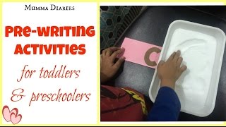 How to encourage Pre-writing skills in toddlers & Preschoolers
