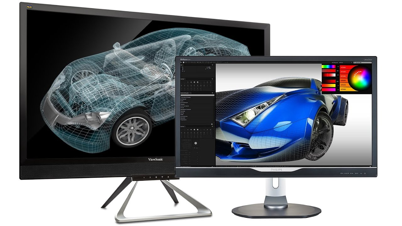 zwei g nstige 4k pc monitore im vergleich viewsonic. Black Bedroom Furniture Sets. Home Design Ideas