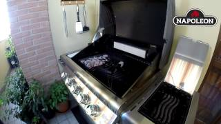 Napoleon grills transformation gas barbecue with charcoal