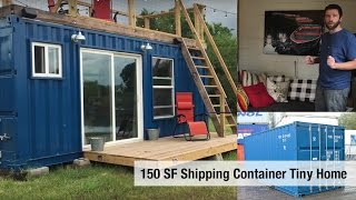 Tiny House Video Tour #3: BackCountry Containers [Houston, TX - 150 SF]