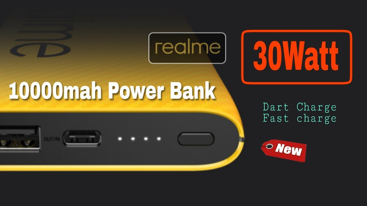Realme 10000mAh 30W Fast Charge Power Bank launch soon in India