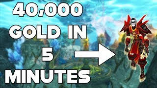 World Of Warcraft Gold Farm 40,000 Gold In 5 Minutes