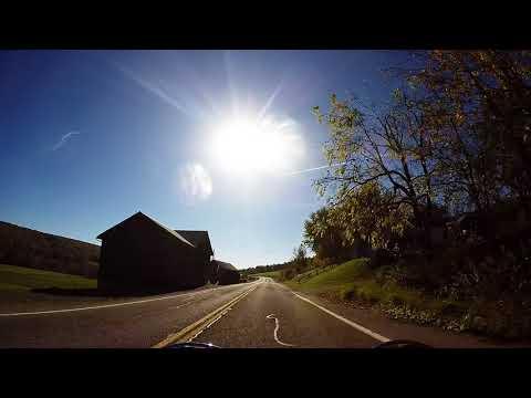 Fall Leaves Changing Motorcycle Ride October Upstate New York Honda VF750C Magna
