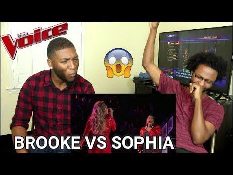 "The Voice 2017 Battle - Brooke Simpson Vs. Sophia Bollman: ""You're A Big Girl Now"" (REACTION)"
