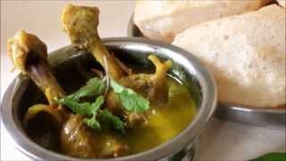 Spicy Green Chicken Curry I Monsoon Recipe I Vidyascooking