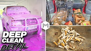 Deep Cleaning a Dirty 4x4 Montero | Disaster Car Detailing a Dirty Mitsubishi Montero