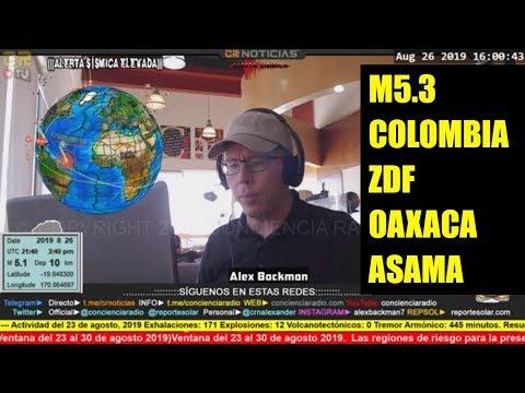 Reporte Solar Sismico Y Volcanico Ago 26 2019 Youtube