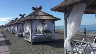 Сочи  Элит 000610. Песчаный пляж в Сочи [ПЛЯЖ МАНДАРИН, АДЛЕР](В этом видео проведем обзор одного сочинского пляжа, который находится в Адлере - пляж