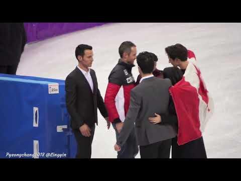 Tessa Virtue Scott Moir Pyeongchang 2018 after flower ceremony