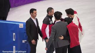 Tessa Virtue Scott Moir Pyeongchang 2018 after flower ceremony