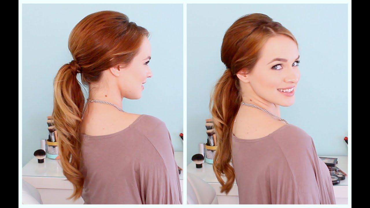retro inspired ponytail
