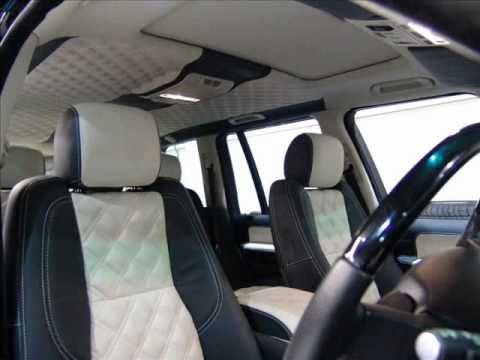 Bespoke leather interior for range rover vogue by the seat - Range rover with red leather interior ...