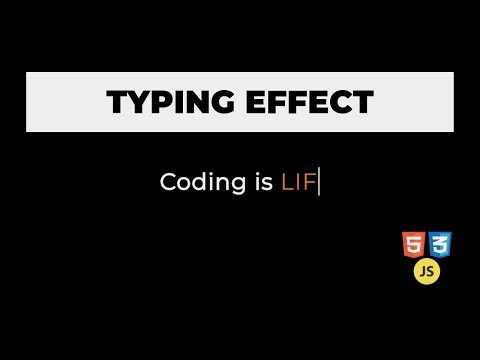 Typing Effect With HTML, CSS And JavaScript