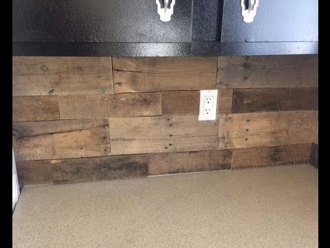 Pallet Wood Backsplash   YouTube