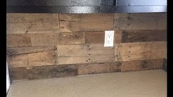 Pallet Wood Backsplash