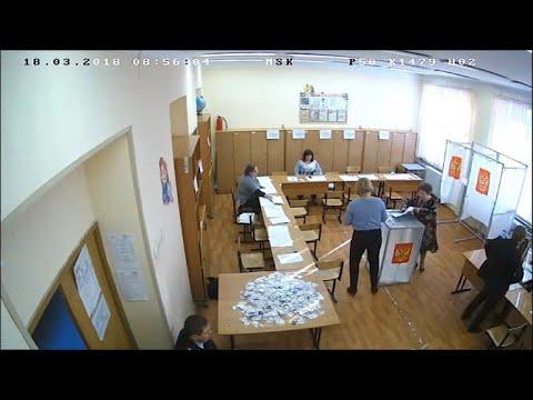 Putins Wiederwahl: Video zeigt Wahlbetrug