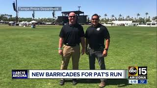 New barricades being installed for Pat