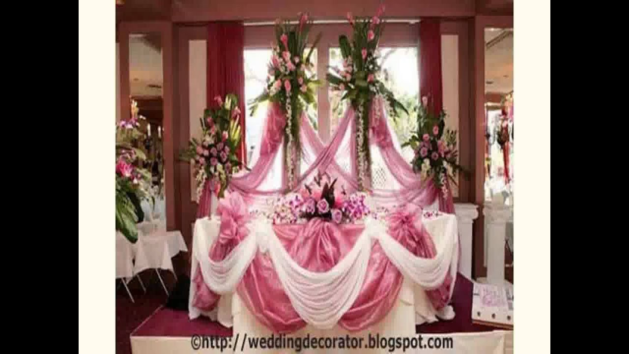 Cheap wedding decoration ideas for tables 2015 youtube for Decorations for a home