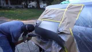 Mobile Auto Bodywork & Paint Job (fixing a dent with a uni-spotter)