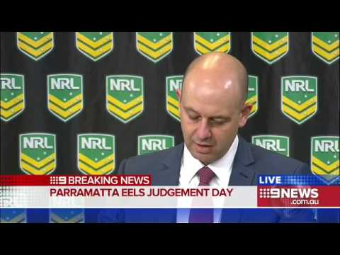 Todd Greenberg addresses the media after striping the Eels of 12 points | Eels Salary Cap