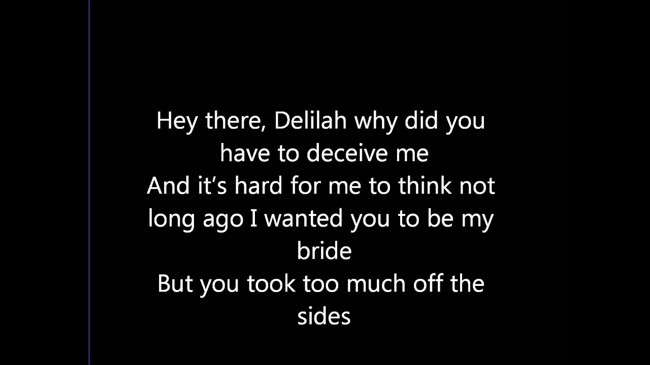Hey There Delilah Samson Version Chords Chordify