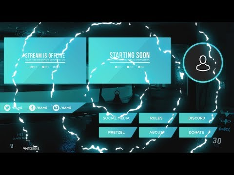 Free Twitch Live Stream Overlay Package Template 2