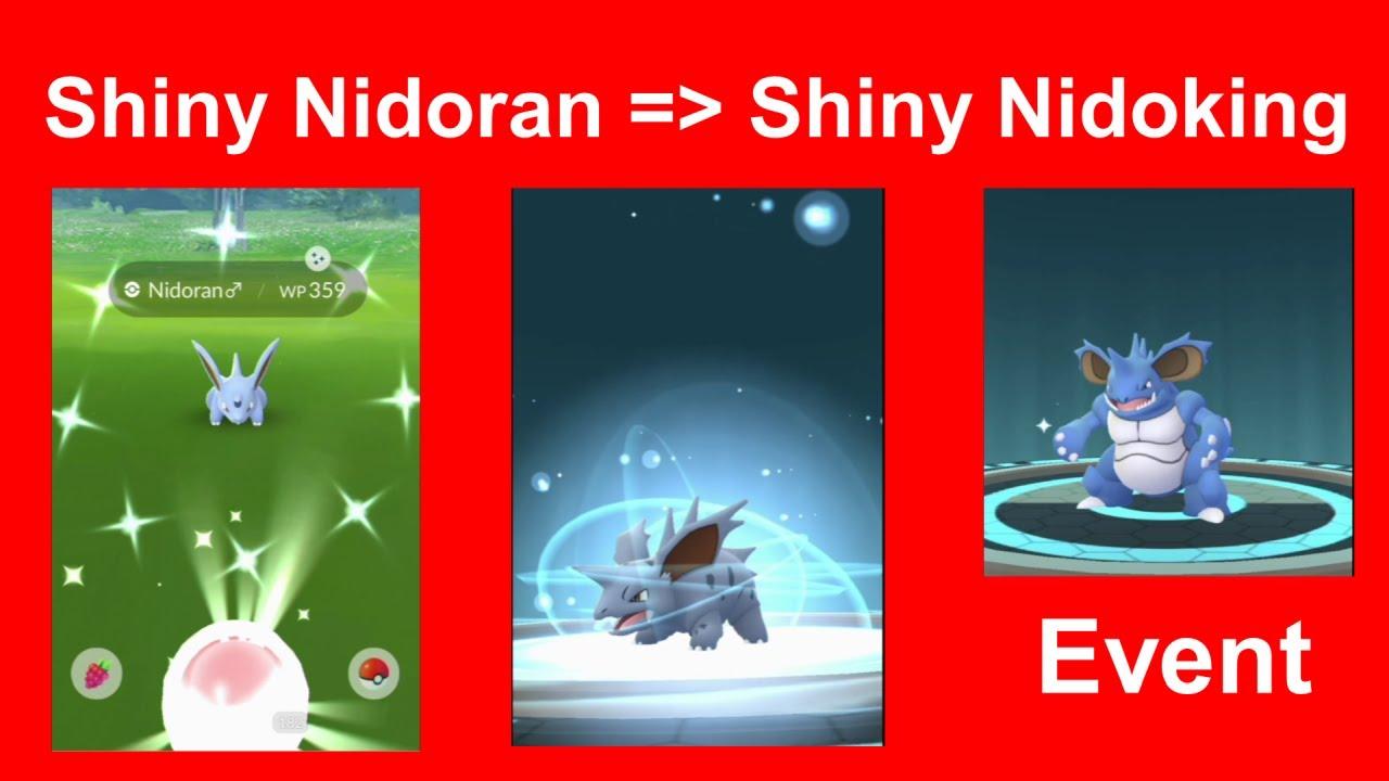 Shiny Nidoran gefangen und entwickelt zu shiny Nidoking (shiny Nidorino) - Pokemon GO Deutsch 180