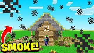 FILLING His HOUSE With SMOKE *TROLL* (Camp Minecraft)