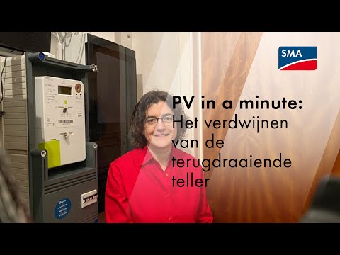 PV in a minute: het verdwijnen van de terugdraaiende teller