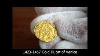1423 - 1457 Gold ducat of Venice, minted  under Doge Francesco Foscari