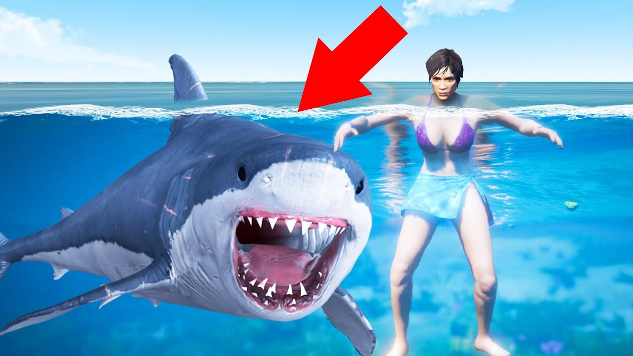 Playing As A SHARK With GTA 5 MODS! (Brutal)