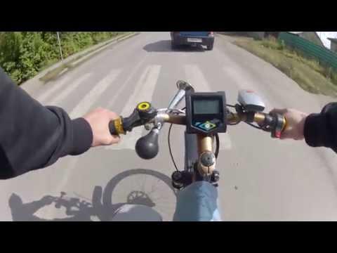пробный заезд на электро велосипеде