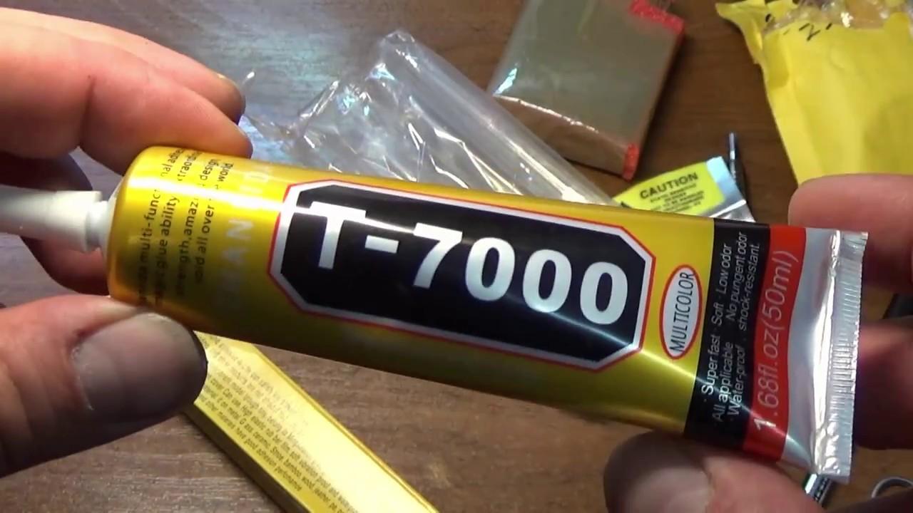 Клей для сенсорного стекла B7000 - YouTube