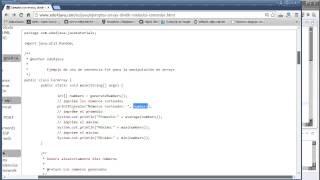 Ejemplos con arrays, dividir en métodos y comentar