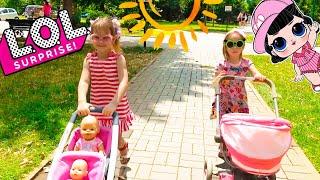 Как Алина играет в куклы Беби Бон КАК МАМА Видео про игрушки и наклейки ЛОЛ