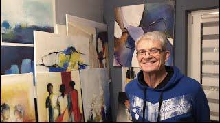 """Gottfried Brandstätters Bild """"grenzenlos? begrenzt!""""  am Lienzer Kunstadventkalender 2020"""