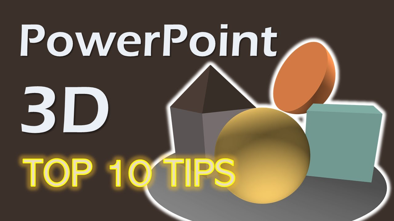 How To Make 3d Models In Powerpoint Top 10 Tips Powerpoint 2019 Tricks Youtube