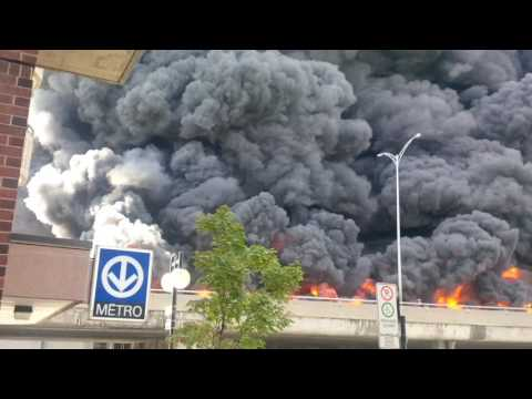 Montreal metropolitain truck explosion 9 August 2016