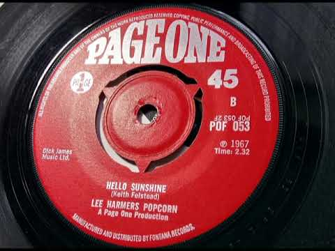 LEE HARMERS POPCORN - Hello Sunshine - PAGE ONE POF 053 - UK 1967 Psych Beat Dancer Vocal