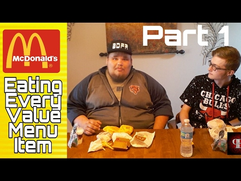Eating McDonald's Entire Value Menu Challenge/Food Review! Part 1