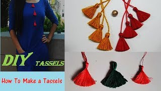 How To Make a Tassels Quick DIY Tutorial