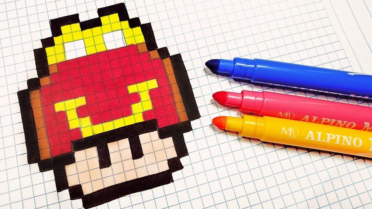 Handmade Pixel Art How To Draw Happy Meal Mushroom Pixelart Youtube