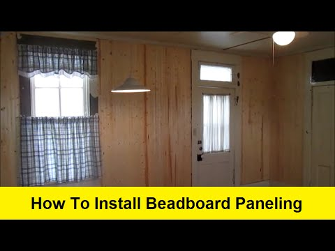 how to install beadboard paneling youtube. Black Bedroom Furniture Sets. Home Design Ideas