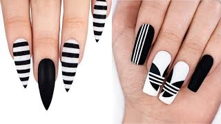 New Nail Art 2018 | Tutorial nails!Adidas nails!
