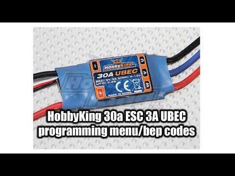 HobbyKing 30A ESC beep codes