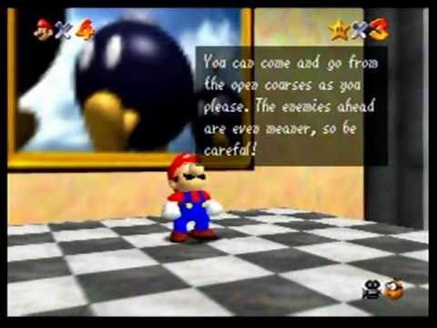 Super Mario 64 (Nintendo 64) Playthrough - Part 1