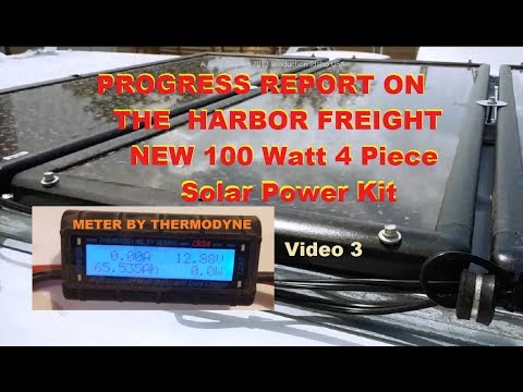 What a Harbor Freight 100 Watt Solar Panel Kit has Output, Real Results & Info Below  ↙